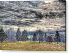 Storm Brewing Over Park Acrylic Print