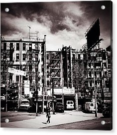 Storm Clouds - Chinatown - New York City Acrylic Print by Vivienne Gucwa