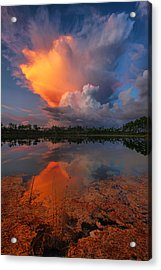Storm Clouds At Dawn Acrylic Print by Claudia Domenig