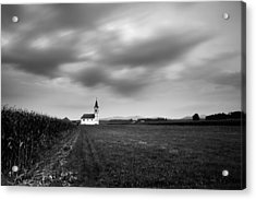 Storm Clouds Gather Over Church Acrylic Print