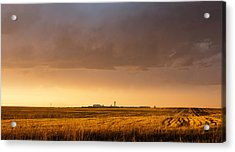 Acrylic Print featuring the photograph Storm Clouds Over Dia by Monte Stevens