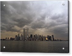 Storm Clouds Over Lower Manhattan Acrylic Print by Medford Taylor