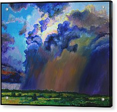 Storm Clouds Over Missouri Acrylic Print by John Lautermilch