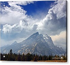 Storm Clouds Over The Grand Tetons Acrylic Print