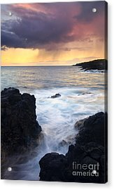 Storm Fissure Acrylic Print by Mike  Dawson