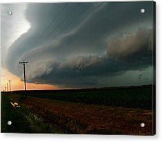 Acrylic Print featuring the photograph Storm Front by Debbie Portwood