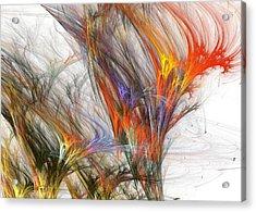 Storm In Fractal-trees Acrylic Print by Steve K