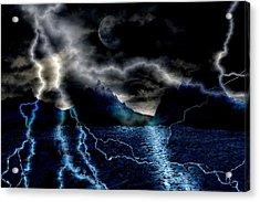 Storm In The Blue Mountains Acrylic Print by Angel Jesus De la Fuente