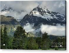 Storm  In The Tetons Acrylic Print by Sandra Bronstein