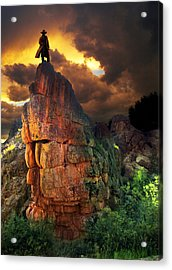 Storm On Buckhorn Mountain Acrylic Print by Ric Soulen