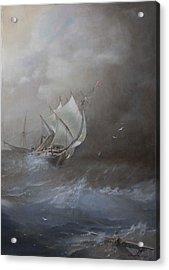 Storm On The Arctic Ocean Acrylic Print by Oleg Gorovoy