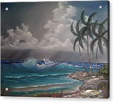 Storm On The Horizon Acrylic Print by John Koehler