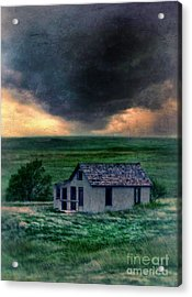Storm Over Abandoned House Acrylic Print by Jill Battaglia