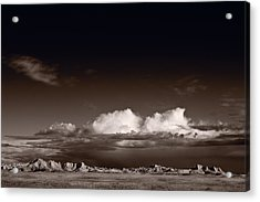 Storm Over Badlands Acrylic Print