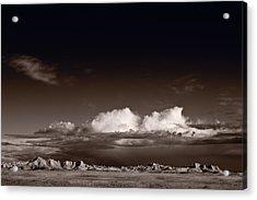 Storm Over Badlands Acrylic Print by Steve Gadomski