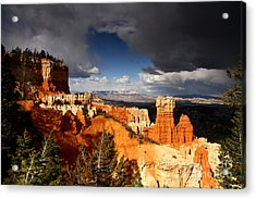 Storm Over Bryce Canyon Acrylic Print by Butch Lombardi