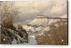 Storm Over Mt Garfield Acrylic Print