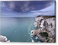 Storm Over Sea Acrylic Print by Paco Costa