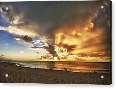 Storm Over Sunset Beach Hawaii Acrylic Print by Verity Milligan