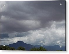 Acrylic Print featuring the photograph Storm Over The Pedernal by Susan Alvaro