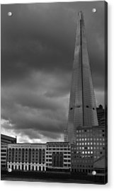 Storm Over The Shard Acrylic Print by Kevin Bates