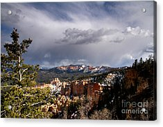 Storm Over The South Rim Bryce Canyon Acrylic Print by Butch Lombardi