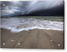 Storm Rolling Acrylic Print by Nick  Shirghio