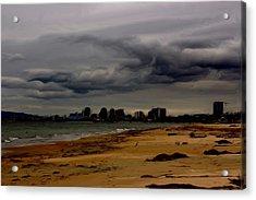Storm Rolls In Acrylic Print by Heidi Smith
