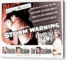 Storm Warning, Ginger Rogers, Steve Acrylic Print by Everett