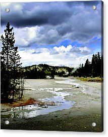 Stormclouds Over Norris Basin Acrylic Print by Ellen Heaverlo