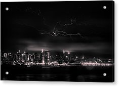 Storming Into The Night Acrylic Print by David Hahn