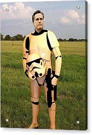 Stormtrooper Mitt Romney Acrylic Print by Paul Van Scott