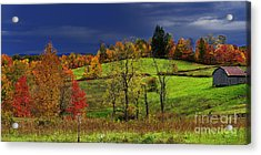Stormy Autumn Morning Acrylic Print by Thomas R Fletcher