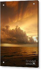 Stormy Gulf Coast Sunset Acrylic Print by Matt Tilghman