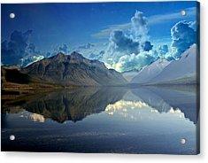 Stormy Lake Acrylic Print by Marty Koch