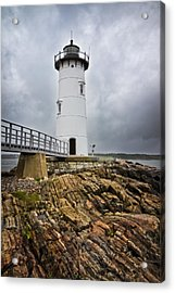 Stormy Lighthouse Acrylic Print by Robert Clifford