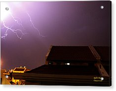 Acrylic Print featuring the photograph Stormy Night by Itzhak Richter