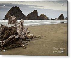 Stormy Oregon Coast Acrylic Print by Jim Adams