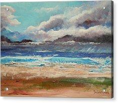 Stormy Shore Acrylic Print