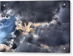 Stormy Skies Acrylic Print by Lynnette Johns