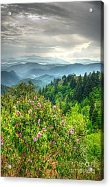 Stormy Spring Skies Acrylic Print by Bob and Nancy Kendrick