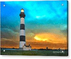 Stormy Sunrise Wc Acrylic Print by Dan Carmichael
