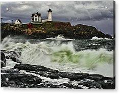 Stormy Tide Acrylic Print by Rick Berk
