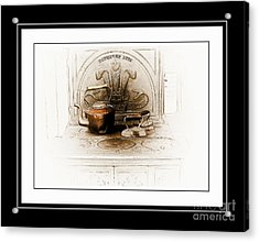 Stove Patent 1885 Acrylic Print by Elaine Manley