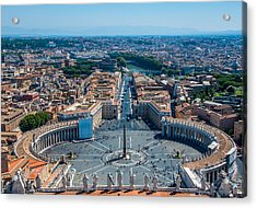 St.peter's Square And Part Of Rome Acrylic Print