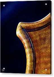 Acrylic Print featuring the photograph Stradivarius Corner Closeup by Endre Balogh