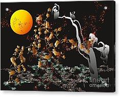 Acrylic Print featuring the digital art Strange Autumn 2011  by Leo Symon
