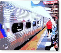 Strangers Almost On A Train Acrylic Print by Don Struke