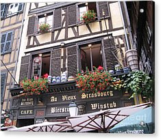 Strasbourg Acrylic Print by Arlene Carmel