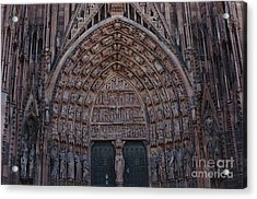 Strasbourg Cathedral Entranceway Acrylic Print